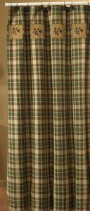 Country Pine Shower Curtain - traditional - shower curtains - other metro - Everything Primitives?? Maybe for moms!