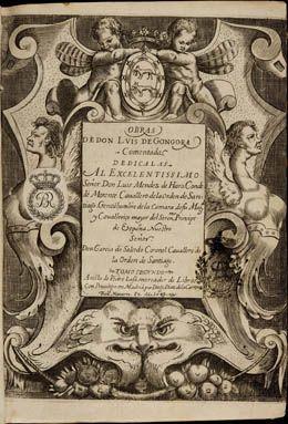 García de Salcedo Coronel. Las obras de don Luis de Góngora comentadas. Vol. I.