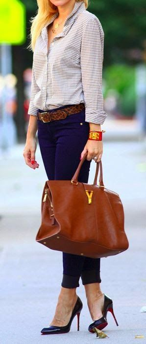 Love the flexibility of the pieces- work to weekend. Also love how the shirt tucked in with a belt looks super professional.