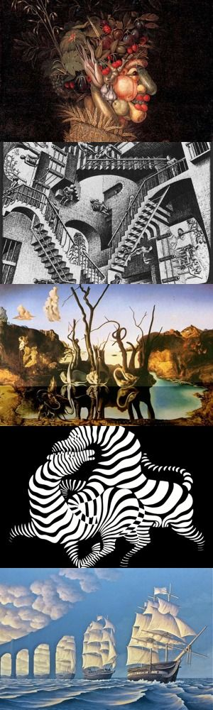 Cinque quadri famosi con illusioni ottiche che vi lasceranno a bocca aperta