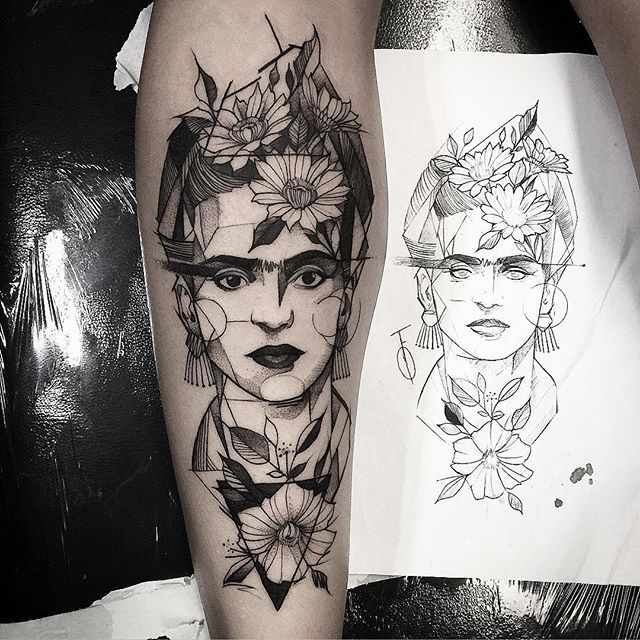 Frida kahlo  Feito na @inkonik_tattoo_studio #electricink
