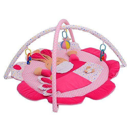 Alfombra Manta de Juegos Parque Acolchado Infantil para Bebe Gatear Gimnasio Juguete Modelo Conejo Feliz
