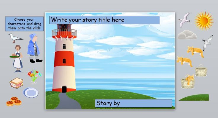 Images for the IWB to help pupils retell the story 'The Lighthouse Keepers Lunch'.
