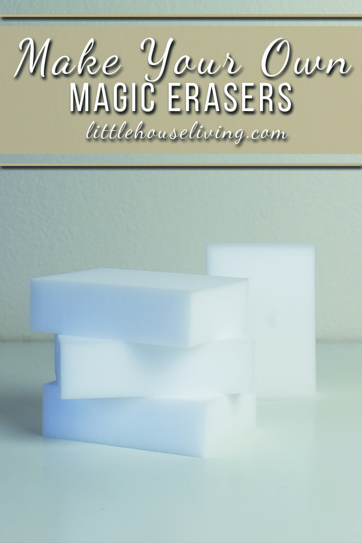 Homemade Magic Erasers Formula that will help to remove iron stains from hard water deposits in your home! This formula and cheap way to get magic erasers ...