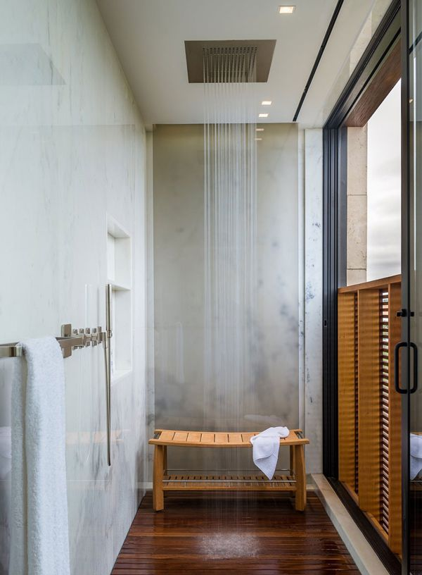 Rain Shower - Daniel's Lane Residence by Blaze Makoid Architecture