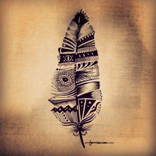 Tatuaggio Piuma Di Pavone Sul Piede