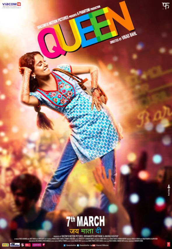 Best Film: Queen, Directed by Vikas Bahl. With Kangana Ranaut, Rajkummar Rao, Lisa Haydon, Mish Boyko   www.indipin.com #indipin