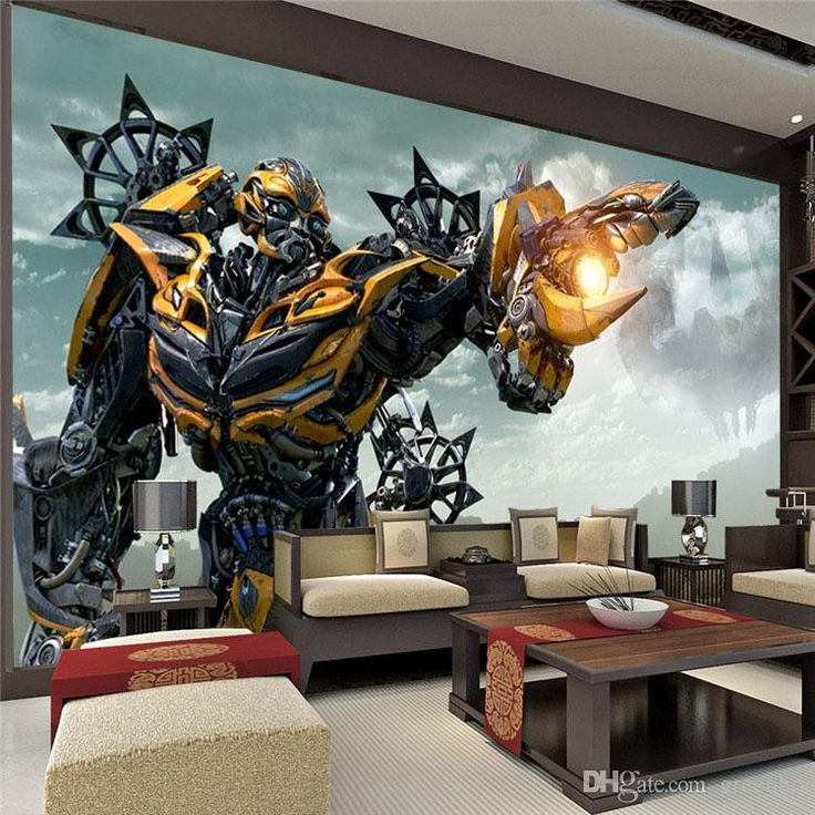 Transformers Bumblebee Wall Mural Large Wall Art Photo Wallpaper Designer  Wall Stickers Childrenu0027S Room Bedroom Custom Part 60