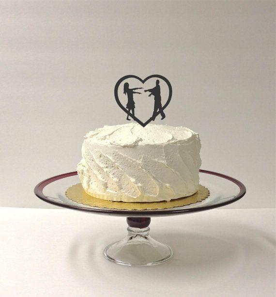 ZOMBIES Wedding Cake Topper Zombie Cake by CreativeButterflyXOX