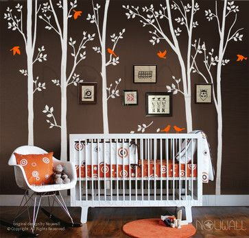 tree wall decal - modern - nursery decor - other metro - nouwall