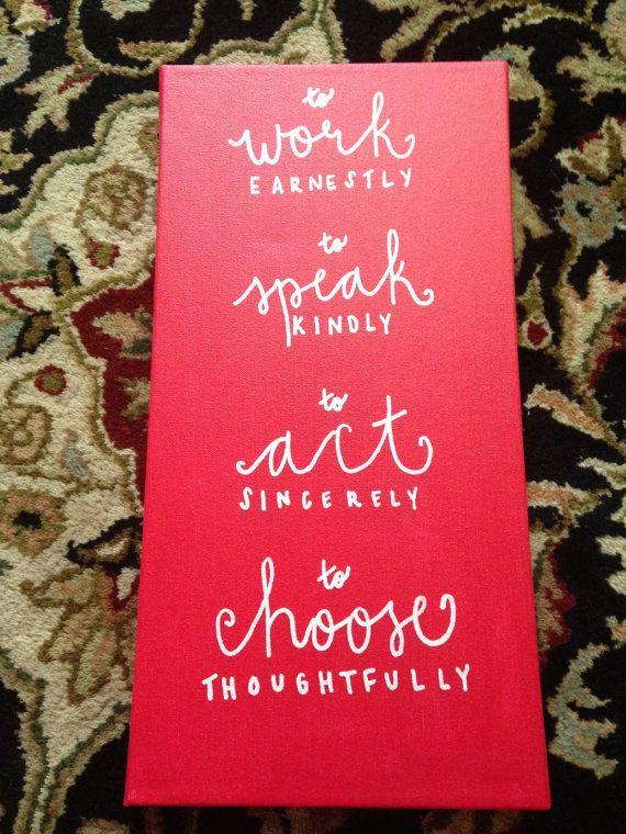 Chi Omega Symphony Canvas by CarolineCanvases on Etsy