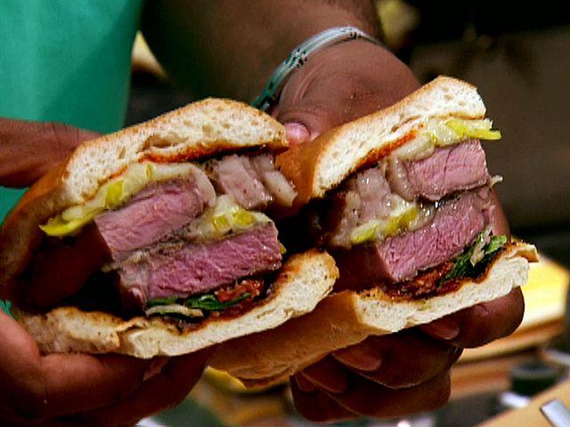 Grilled Rib-Eye Steak Sandwich from FoodNetwork.com