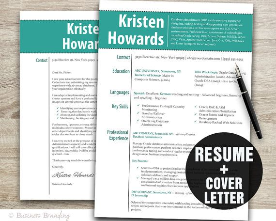 Get Your Dream Job With This Resume Template And Cover Letter