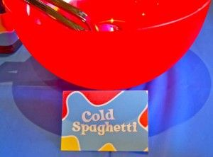 Spaghetti is a must!