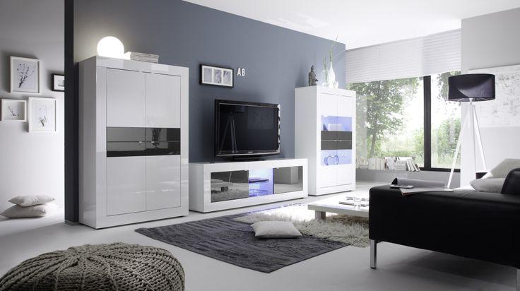 die besten 25 wohnwand weiss ideen auf pinterest wohnzimmer akzente wei e w nde dekorieren. Black Bedroom Furniture Sets. Home Design Ideas
