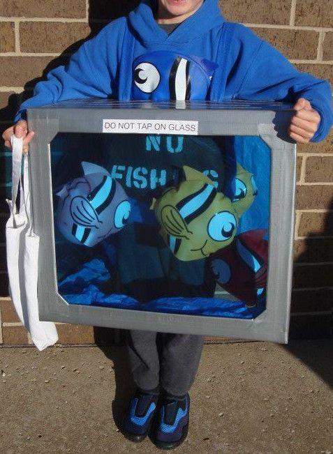 Fish Tank Aquarium Child Halloween Costume Homemade Custom Pet Water  #Handmade #CompleteOutfit