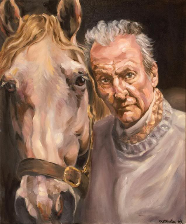 Portrait Of Lucian Freud With Horse Graphic