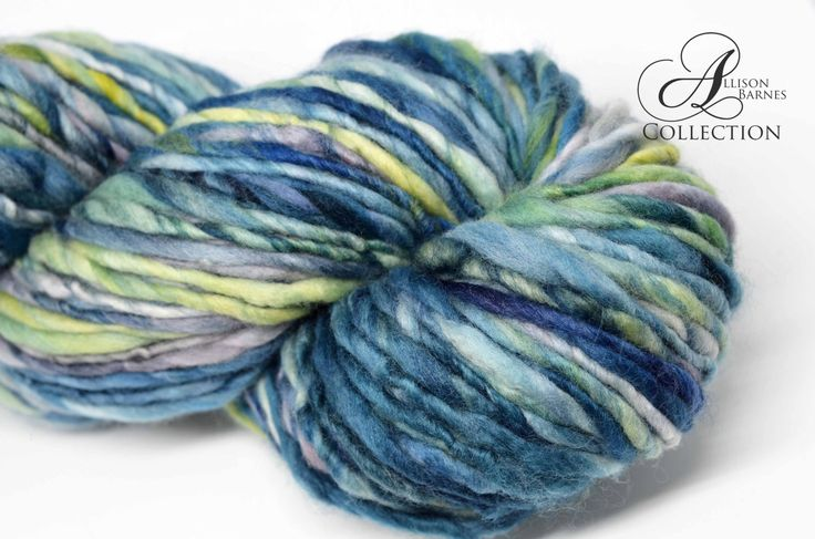 Handspun Bulky Weight Single Ply Yarn Merino Wool - Lagoon by allisonbCOLLECTION on Etsy https://www.etsy.com/ca/listing/508020275/handspun-bulky-weight-single-ply-yarn