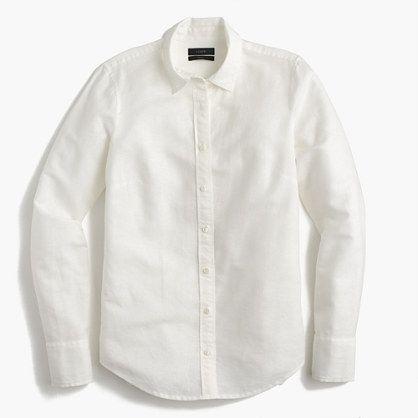 J.Crew+-+Perfect+shirt+in+cotton-linen
