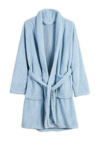 Danea Deco Women Fleece Robe Super Soft Plush Long Bathrobe Lightweight  Comfy Warm Cozy Sleepwear b1289c9aa
