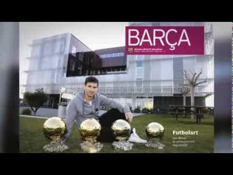 FOOTBALL -  FC Barcelona - Les 4 Pilotes d'Or de Messi llueixen a la REVISTA BARÇA - http://lefootball.fr/fc-barcelona-les-4-pilotes-dor-de-messi-llueixen-a-la-revista-barca/