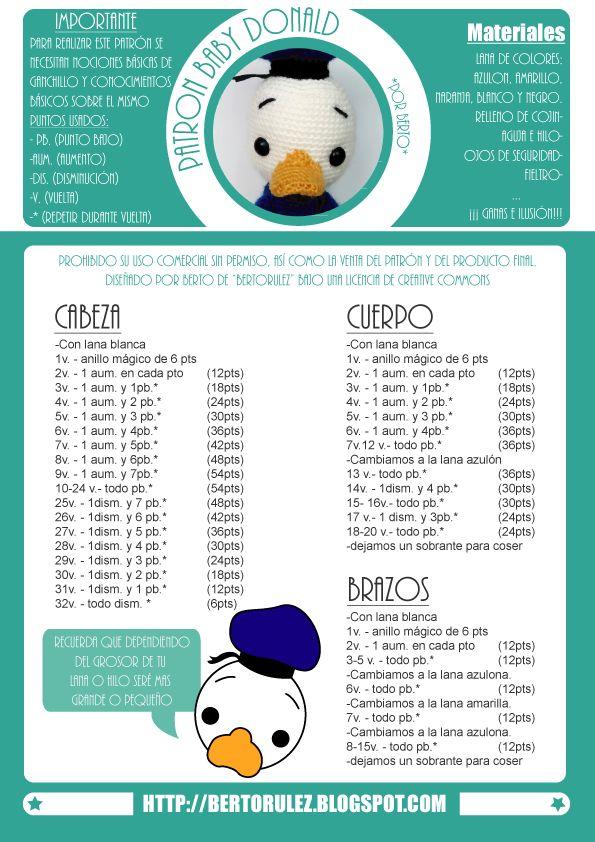 Bertorulez: Patrón Gratuito: Baby Donald Duck