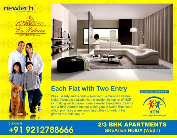 Luxury flats in Noida Extension are among the most demanded homes in the National Capital Region. Newtech La Palacia offers you just that. La Palacia Noida Extension offers 2 BHK and 3 BHK flats starting from Rs 3410 psf.