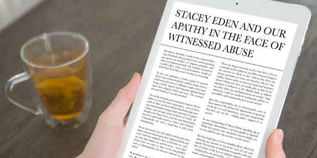 when did it ever become ok to abuse someone based upon their religious beliefs and ways? - See more at: http://www.unimedliving.com/accountability/media-today/stacey-eden/stacey-eden-and-our-apathy-in-the-face-of-witnessed-abuse.html/?utm_source=newsletter&utm_medium=email&utm_campaign=july.12#sthash.FpcxZAut.dpuf