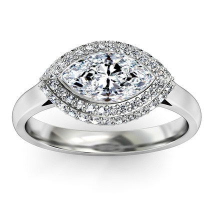 Marquise diamond halo and diamonds on pinterest