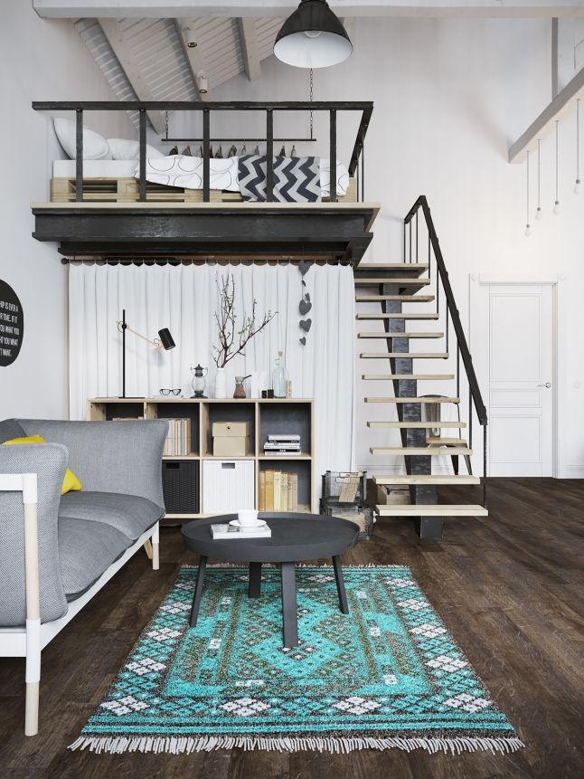 Jurnal de design interior - Amenajări interioare : Multă personalitate într-un loft de 45 m² din Praga