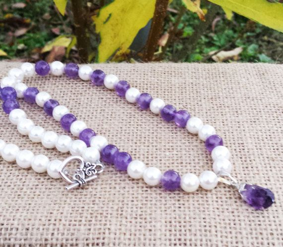 Check out this item in my Etsy shop https://www.etsy.com/uk/listing/247452854/brides-gifts-fresh-water-pearl-amethyst