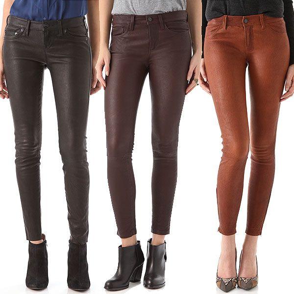 How to Wear Skinny Leather Jeans Like Olivia Palermo, Kim Kardashian, and Jessica Biel