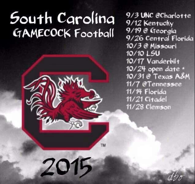 Gamecocks 2015 Schedule
