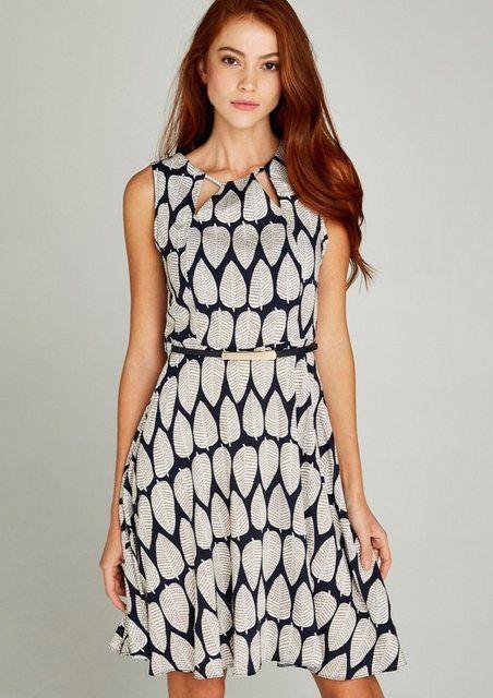 Minikleid »Summer Pine Cut Out Dress« mit Cut-Out am Ausschnitt