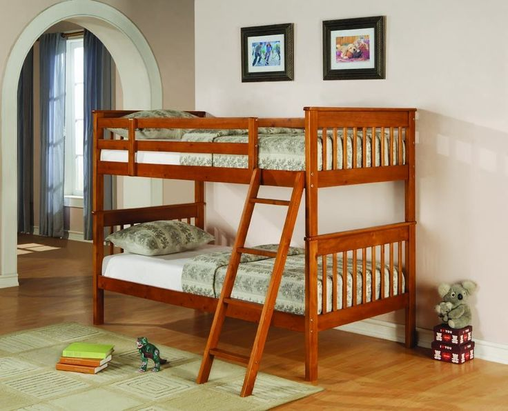 Distressed Pine Twin Bunk Bed
