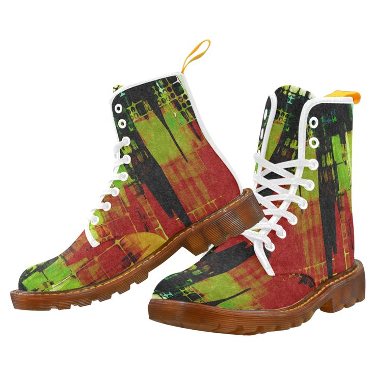 Grunge texture Martin Boots For Men Model 1203H.