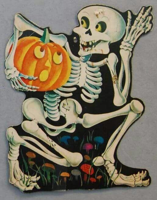 Vintage Halloween Die Cut