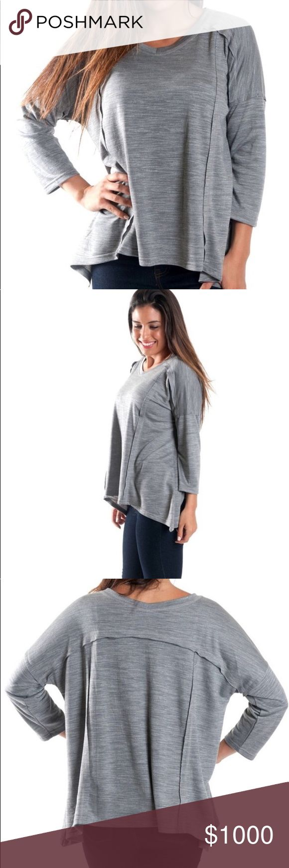 😍 COMING SOON! Grey Slouchy Open Hem Top + Paige slouchy top | grey + So comfy you'll want to wear it all day 😍 + Easily paired with leggings/jeans, boots and a scarf for a classic fall look + Deep v-neck and 3/4 sleeves + 81% polyester & 19% viscose + Oversized style + Will be getting 2S, 2M, 2L! Like this post to get a price drop ⬇️ notification when they come in!  + Smoke free and pet free home 🏡 + NO OFFERS AND NO TRADES 🚫  ✨ If you would like any additional photos or if you have any…