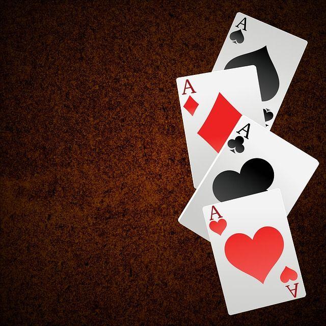 Karty Do Gry, As, Hazard, Szczęście, Tło