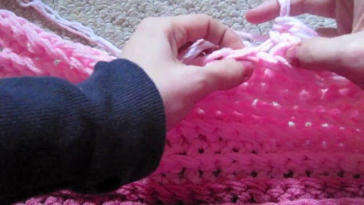 Finger Knitting Blanket : Best double strand crochet multiple strands held