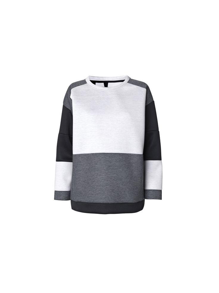 Hermeline graphic neopren sweatshirt - By Malene Birger Autumn Winter 2014 - Women's fashion