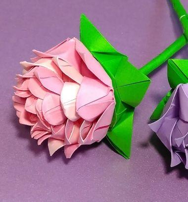 Beautiful DIY origami rose - paper flower (paper folding) // Gyönyörű origami rózsa - papír virág (papírhajtogatás) // Mindy - craft tutorial collection