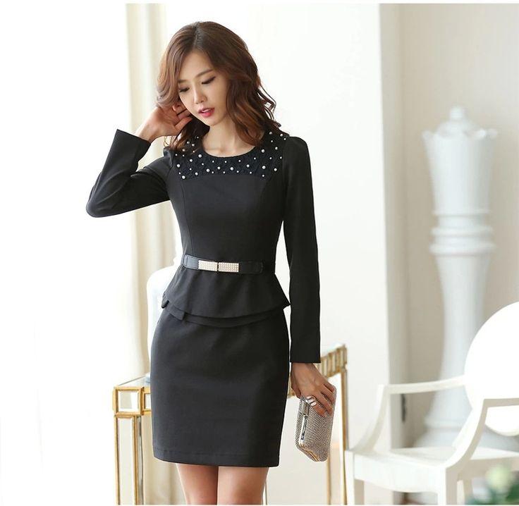 2014 Office Uniform Style Women Formal Wear Sets Solid Conjuntos Femininos Female Skirt Suits for Women Work Wear