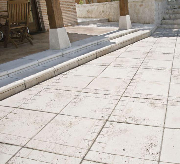 baldosa de exterior para pavimento de hormign mate trena verniprens