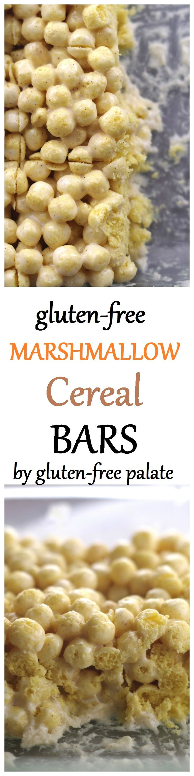 Forget regular krispie treats and savor the delicious flavors of butter, vanilla, and cinnamon in these gluten-free marshmallow cereal bars by Gluten-Free Palate.