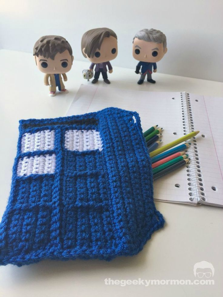 10 Crocheted Pencil Case Patterns - Seven Alive