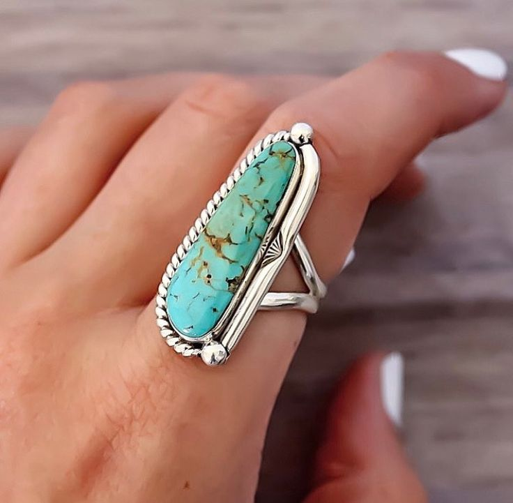 BACK IN STOCK    Navajo Half Twist Turquoise Ring beautifully hand crafted by Navajo Artisans and available in our 'Navajo' Collection