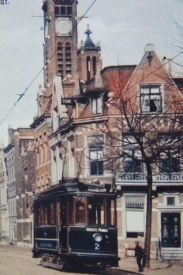 Stationstraat-Emmastraat Groningen 1910