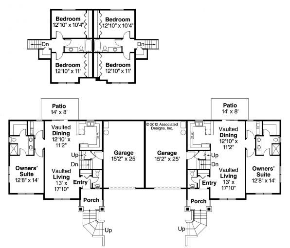 70 best images about house plans multi family on for Multifamily house plans