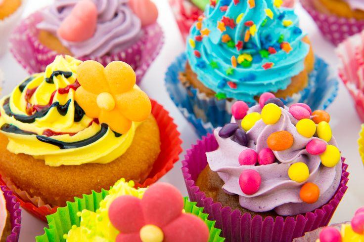 #Cupcakes llenos de color para alegrar nuestro día